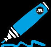 shock blue middle 15mm