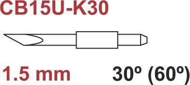 Graphtec messer 60º 1,5mm
