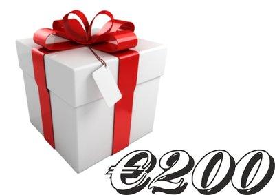 Geschenkkarte €200,-