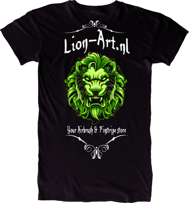 Lion-Art T-Shirt Schwarz