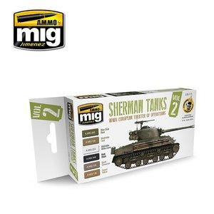 Set Sherman Tanks Vol. 2 (WWII European Theater of Operations) (6x 17ML)