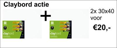 Claybord 2x 30 x 40 cm